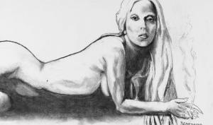 Обнажённую Леди Гагу, нарисованную Тони Беннеттом, выставили на продажу