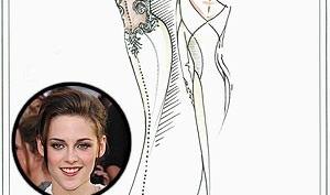 Кристен Стюарт была растрогана, примерив свадебное платье Беллы