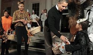 Тайная вечеринка Хэллоуин четы Обама с Джонни Деппом