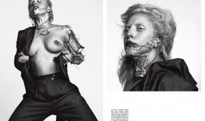 Леди Гага снялась в очередной провокационной фотосессии