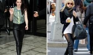 Кожаные брюки: Кристен Стюарт против Дакоты Фаннинг