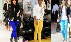 Цветные джинсы - весенний хит одежды для подростков