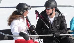 Кейт Миддлтон и принц Уильям провели каникулы в горах