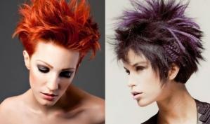Прически 2012: акцент на цвет