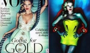 Кейт Мосс для обложки июньского номера Vogue позаимствовала верёвку у Бекхэмов