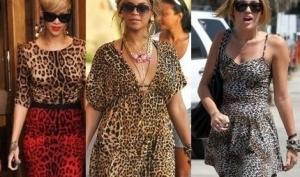 Звезды в леопардовых платьях