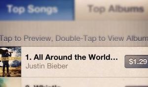 Новая песня Джастина Бибера All Around The World покоряет iTunes