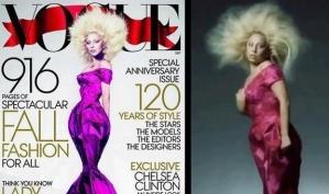Леди Гагу отфотошопили для журнала Vogue