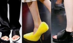 Меховые туфли-тапочки стали хитом Парижской недели моды