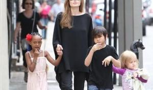 Дети Анджелины Джоли снимутся в кино