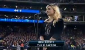 Деми Ловато спела гимн Америки