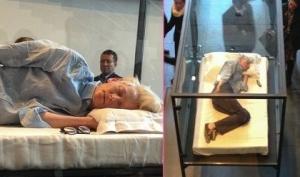 Тильда Суинтон спит в музее