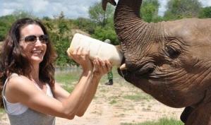 Кристин Дэвис усыновила слоненка