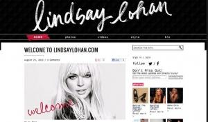 Линдси Лохан запустила собственный сайт