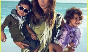 Дженнифер Лопез и ее близнецы снялись в рекламе Gucci