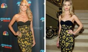 Две модели одно платье: Роузи Хантингтон-Уайтли против Хайди Клум