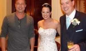 Брэд Питт попал на чужую свадьбу