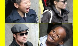 Анджелина Джоли и Брэд Питт прогулялись с детьми по Будапешту