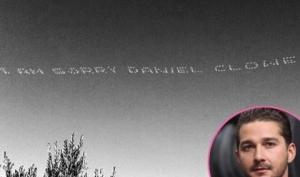 Шайа Лабеф написал извинения в небе