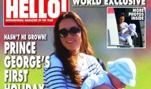 Кейт Миддлтон с сыном отправилась на отдых