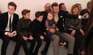Муж и дети поддержали Викторию Бекхэм на Неделе моды в Нью-Йорке