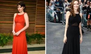 Анджелина Джоли и Скай Феррейра в платье Saint Laurent