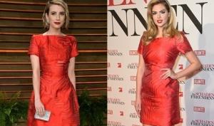 Кейт Аптон и Эмма Робертс в платье Фенди