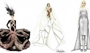 Леди Гага получила более 30 эскизов свадебных платьев от известных дизайнеров