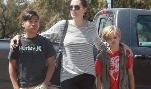 Анджелина Джоли и Брэд Питт отпраздновали день рождения двойняшек на катке