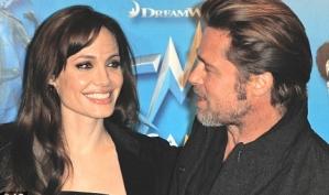 Анджелина Джоли и Брэд Питт на парижской премьере Мегамозга