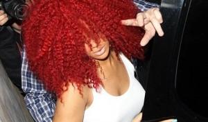 Рианна пришла на вечеринку в парике