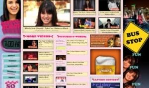На 1 апреля Ребекка Блэк заняла страницу Funny or die