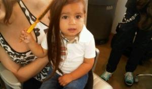 Ким Кардашян нарастила волосы племяннику