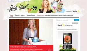Хайди Клум обзавелась собственным сайтом в Интернете