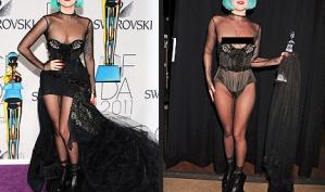 Леди Гага показала грудь на церемонии CFDA
