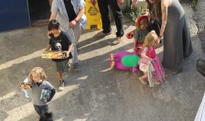 Анджелина Джоли и её семья на Мальте