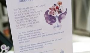Мороженое со вкусом духов Джастина Бибера
