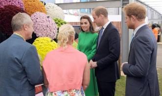 Принц Уильям и Кейт Миддлтон посетили выставку цветов в Челси