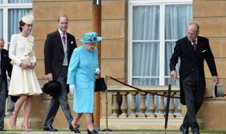 Принц Уильям и Кейт Миддлтон на открытии сада в Букингемском дворце