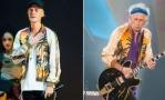 Джастин Бибер и Кит Ричардс в куртке Saint Laurent