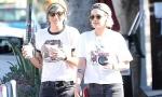 Кристен Стюарт и Алисия Каргайл целуются на улице и носят похожую одежду