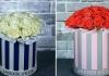Букет цветов в шляпной коробке – хит сезона