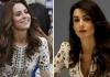 Кейт Миддлтон и Амаль Клуни в платье Alexander McQueen