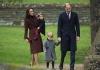 Принц Уильям и Кейт Миддлтон с детьми посетили рождественскую службу в церкви